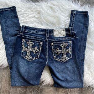 Miss me jeans  denim signature skinny bling cross